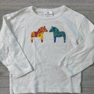 Hanna Andersson Dala horse shirt sz 100 4